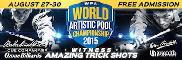 Ozone Billiards World Artistic Pool Championship (Aug. 27-30)