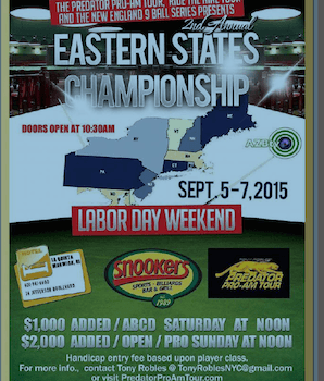 Eastern States Championship This weekend, Sept. 5-7