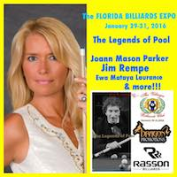 Jan 28-31 – 3rd Annual Florida Billiards Expo!