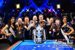 Europe Retains pool's Mosconi Cup in Hard Fought Battle