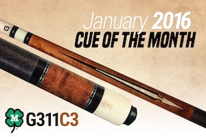 McDermott Announces Free Pool Cue Giveaway for January 2016