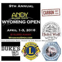 Andy Billiard Cloth Wyoming Open, April 1-3