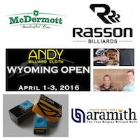Andy Cloth Wyoming Open Draws Elite Pool Sponsors