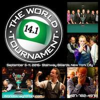 September's World Tournament of 14.1 Offers Club Memberships