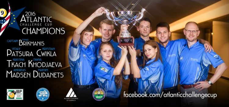 Team Europe Wins Pool's Atlantic Challenge Cup