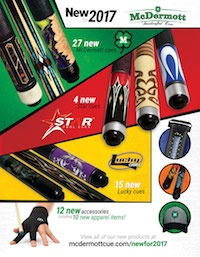 McDermott Announces New Pool and Billiard Products for 2017
