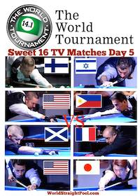 Pool's World Tournament of 14.1 – Final 16 – PPV Schedule