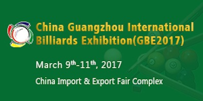 Invitation to the 11th China Guangzhou Billiards Exhibition, March 2017