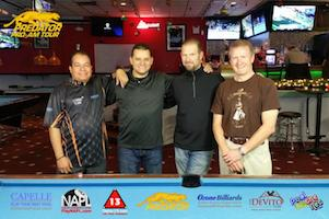 Winners of Predator Pro/Am Tour Pool Stop, Steinway Billiards Nov. 27