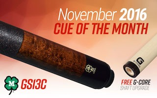 McDermott Cue Giveaway for November 2016