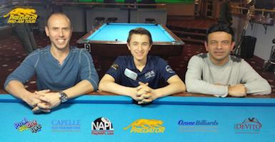 Results Predator Pro/Am (Jan. 28-29) at Steinway Billiards