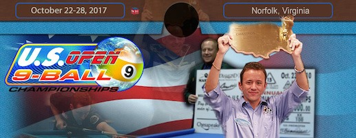 Pool's U.S. Open 9-Ball Championships, Oct. 22-28, 2017