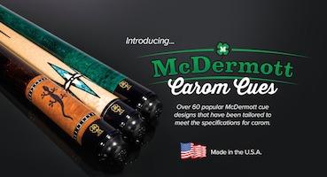 McDermott Releases Carom Cue Line