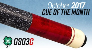 McDermott Cue Giveaway for October 2017