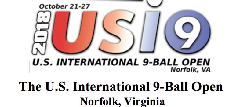 The U.S. International 9-Ball Open, Oct. 21-27, 2018