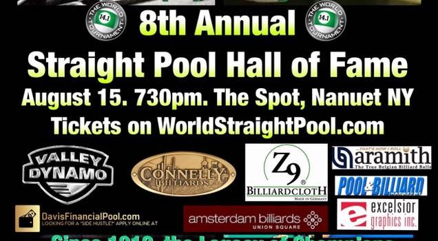 Cisero Murphy & George SanSouci 2018 Straight Pool Hall of Fame August 15
