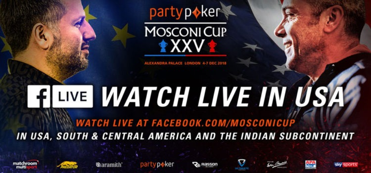 partypoker Mosconi Cup XXV Watch Stream Starting Dec. 4