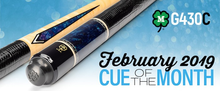 McDermott Cue of the Month Giveaway for February 2019