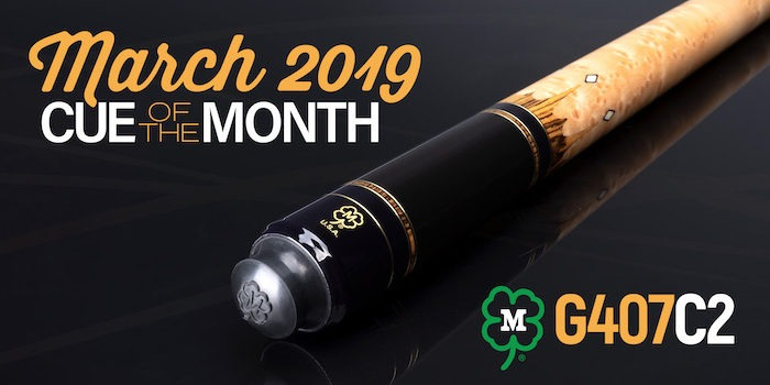 McDermott Announces Cue of the Month Giveaway for March 2019