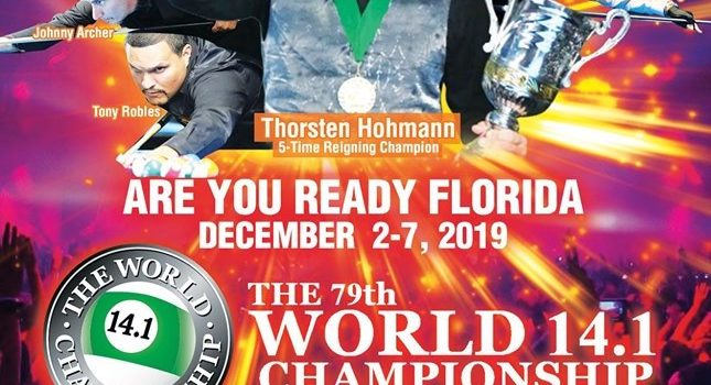 Now Underway  –  World 14.1, Dec. 2-7, 2019