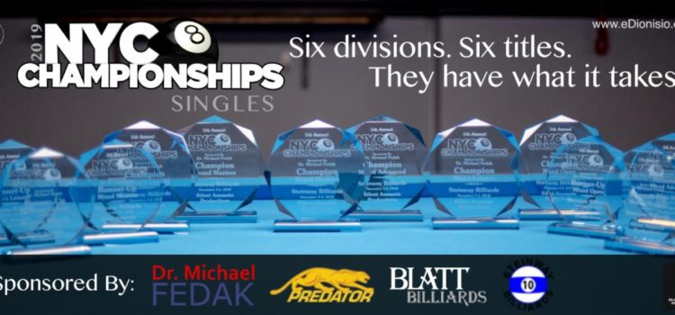 2019 NYC Singles 8-Ball Champions
