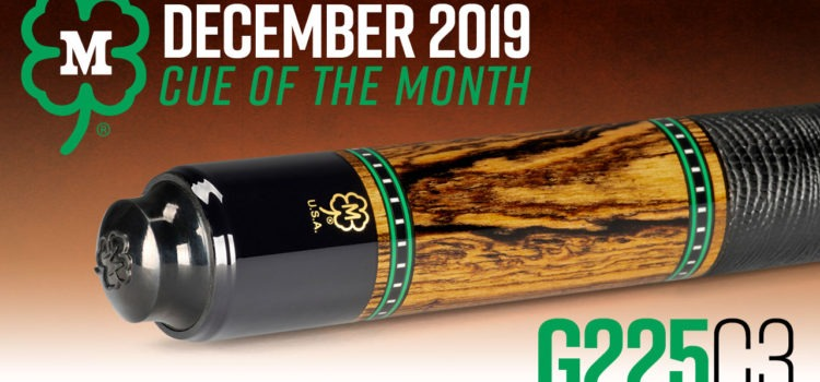 McDermott Cue of the Month Giveaway for December 2019