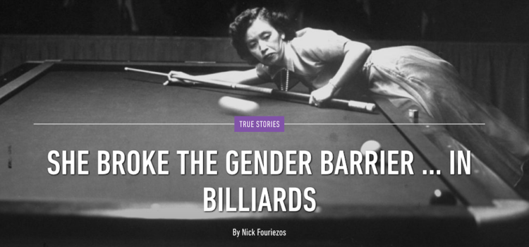 Masako Katsura Broke Billiards Gender Barrier in 1950s