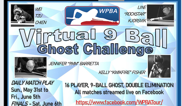 WPBA Virtual 9-Ball Ghost Challenge May 31 – June 5
