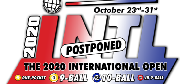 2020 International Open Postponed for a Year to 2021